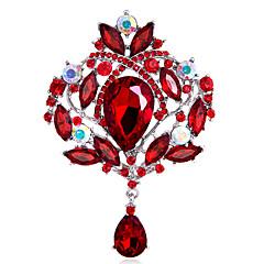 Dame Piger´ Brocher Mode Personaliseret Euro-Amerikansk Rhinsten Glas Legering Kroneformet Smykker ForBryllup Fest Speciel Lejlighed