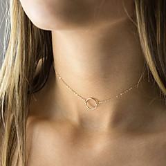Pentru femei Coliere Choker Bijuterii Round Shape Aliaj Design Basic costum de bijuterii Bijuterii Pentru Nuntă Petrecere Zi de Naștere