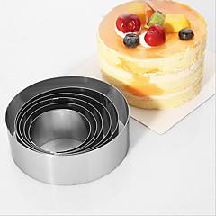 6-delig bakvorm voor Cake RVS Hoge kwaliteit Anti-aanbak Milieuvriendelijk Vakantie