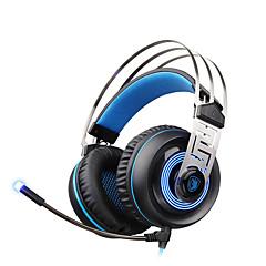 sades a7 usb 7.1 surround hangzás professzionális sztereó fejhallgató játékhoz kék led világítás fülhallgatók mikrofonnal laptop pc