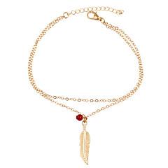 Γυναικεία Βραχιόλι αστραγάλου/Βραχιόλια Κράμα Βοημία Style Leaf Shape Κοσμήματα Για Καθημερινά Causal 1pc