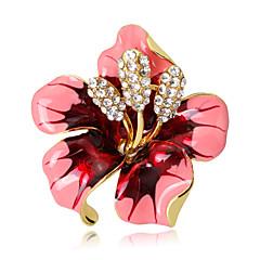 Damskie Broszki Kwiaty Kryształ Stop Flower Shape Biżuteria Na Ślub Impreza Specjalne okazje Codzienny