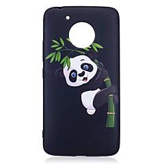 Motorola Moto g5 plusz burkolata panda minta relief hátlap puha TPU