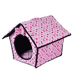 Hond bedden Huisdieren Matten & Pads Harten Warm Zacht Fuchsia Blauw Roze