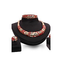 Damskie Zestawy biżuterii Rhinestone sztuczna Ruby Modny Postarzane Osobiste euroamerykańskiej luksusowa biżuteria Wyrazista biżuteria