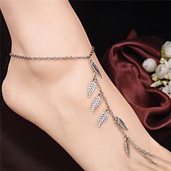 Γυναικεία Βραχιόλι αστραγάλου/Βραχιόλια Κράμα Μοντέρνα Leaf Shape Κοσμήματα Για Καθημερινά Causal Îmbrăcăminte Outdoor