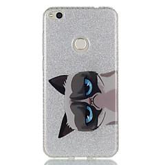 Kompatibilitás tokok IMD Hátlap Case Cica Állat Csillogó Kemény Hőre lágyuló poliuretán mert HuaweiHuawei P9 Huawei P9 Lite Huawei P8