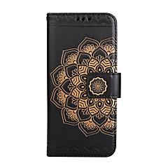 Kompatibilitás iPhone 8 iPhone 8 Plus tokok Kártyatartó Pénztárca Flip Dombornyomott Minta Teljes védelem Case Mandala Virág Kemény Műbőr