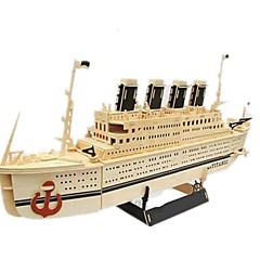 بانوراما الألغاز مجموعة اصنع بنفسك قطع تركيب3D اللبنات DIY اللعب سفينة خشب