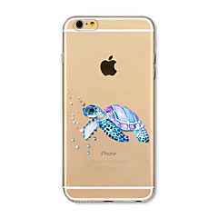 Hoesje voor iphone 7 plus 7 hoesje transparant patroon achterhoes hoesje zeeschildpad zacht tpu voor iphone 6s plus 6 plus 6s 6 se 5s 5c 5