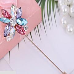 Dame Brocher Kvadratisk Zirconium Blomstret kostume smykker Zirkonium Blomstformet Smykker Til Fødselsdagsfest Valentinsdag