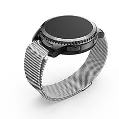 Ancool milanese loop mıknatıs paslanmaz çelik hasır değiştirme tokası metal kayış samsung gear s3 sınır / s3 klasik - gümüş için bilek