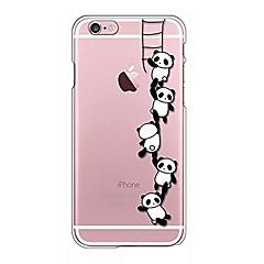 Na iPhone X iPhone 8 Etui Pokrowce Przezroczyste Wzór Etui na tył Kılıf Rysunek Panda Miękkie Poliuretan termoplastyczny na Apple iPhone