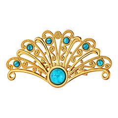 Herre Dame Brocher Turkis Mode Personaliseret Guldbelagt Legering Påfugl Smykker Til