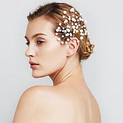kobiece biżuteria perły kwiat do włosów spinki do wesela (zestaw 6)
