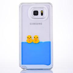 Taske til samsung galaxy note 2 note 3 case cover klokker duck mønster pc materiale quicksand mobil taske til samsung note 4