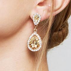 Dame Dråbeøreringe Ørering Mode Elegant Brude Yndig kostume smykker Zirkonium Simuleret diamant Legering Dråbe Smykker Til Bryllup Fest