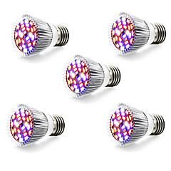 5W E14 GU10 E27 Luz de LED para Estufas 28 SMD 5730 800 lm Branco Quente Branco Vermelho Azul AC 85-265 V 5 pçs