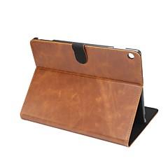 Sólido louco ma padrão caso de couro genuíno com suporte para huawei mediapad m3 lite 10.0 m310 tablet de 10.1 polegadas