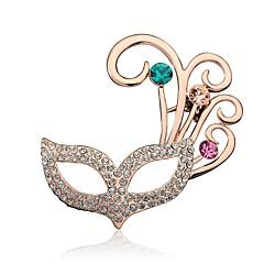 Damskie Broszki Rhinestone Korygujący Osobiste Kryształ górski Stop Biżuteria Biżuteria Na Impreza Wyjściowe