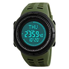 SKMEI Herre Sportsur Armbåndsur Digital Watch Japansk Digital LED Kompas Kalender Kronograf Vandafvisende alarm Selvlysende Stopur