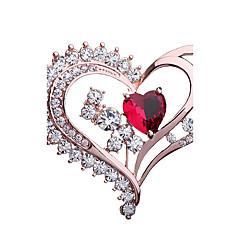 Damskie Broszki Rhinestone Modny Elegancki Kryształ górski Stop Heart Shape Biżuteria Na Impreza