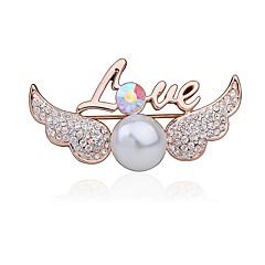 Damskie Broszki Rhinestone Modny Słodkie Style Kryształ górski Stop Skrzydła / Feather Biżuteria Na Impreza Casual
