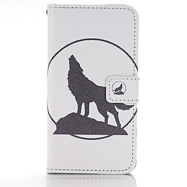 Wolf Silhouette Design PU Leather Full Body Cases Case Huawei P8 Lite
