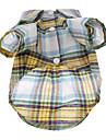 애완견을 위한 컬러풀 격자무늬 패턴 레져 셔츠 (XS-L)