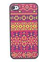 iPhone 4/4S를위한 직물 패턴 하드 케이스