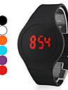 Homme Montre Bracelet Numerique LED Ecran Tactile Calendrier Silikon Bande Noir Blanc Rouge Orange Vert Violet
