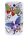 Big cas dur de modèle de papillon avec strass pour Samsung Galaxy S3 I9300