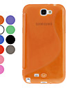 S-Forma TPU macio para Samsung Galaxy Note N7100 2 (cores sortidas)
