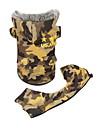 Chien Manteaux Jaune / Vert Vetements pour Chien Hiver camouflage