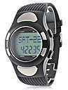 남성 손목 시계 LCD 달력 크로노그래프 방수 경보 디지털 고무 밴드 블랙
