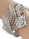 Women's Steel Analog Quartz Bracelet Watch (Silver)