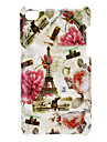 Torre e Blooming Flores Padrão Hard Case para iPod touch 4