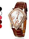 Алмазный женские площади шаблон PU Аналоговые кварцевые наручные часы (разных цветов)