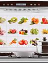 75x45cm 과일& 야채 패턴 기름 증거 방수 핫 증거 부엌 벽 스티커