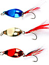 Colorful Fishing Hook with Feathers Lure(5g, Color Ramdon)
