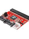 0,2 0.6ft nouveau 3.5 IDE HDD sata de 100/133 Serial ATA convertisseur adaptateur + cable