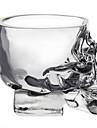 mini-crâne de cristal tête tasse de vodka verre tir verre de whisky logiciel pour la barre de la maison