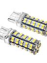 2 Peça T20 4W 68x3528SMD 330-360LM 6000K  Lâmpada de LED Branca Fria  tipo espiga(12V)