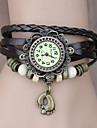 Женские Модные часы Часы-браслет Кварцевый PU Группа Богемные Черный Синий Красный Оранжевый Коричневый Зеленый