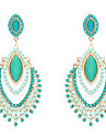 Women\'s Drop Earrings Luxury Costume Jewelry Resin Imitation Diamond Alloy Jewelry For Wedding Party Daily