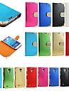 Для Кейс для  Samsung Galaxy Стразы / Флип Кейс для Чехол Кейс для Один цвет Искусственная кожа Samsung S4