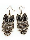 European Fashion Owl Shape Drop Earring(1 Pair)