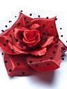 Fashion Bride Red Silk Flower Hairpin