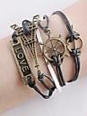 Hot Leather Rudder Tour Eiffel de cru de charme Bracelets multicouche Infinity Love Bracelet travail manuel DIY