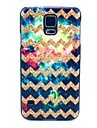 Golden Wave Pattern Hard Case Cover for Samsung Galaxy S5 I9600